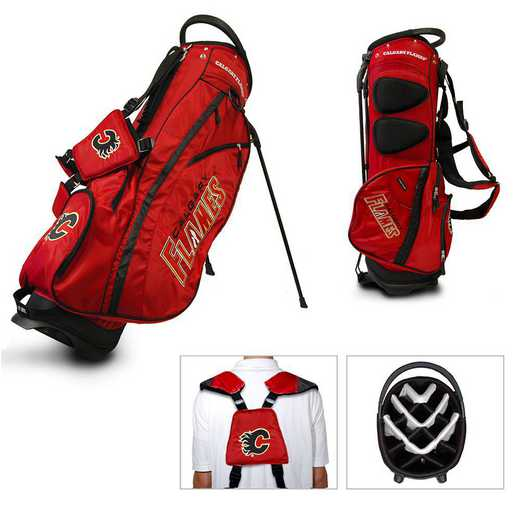 13328: Fairway Golf Stand Bag Calgary Flames